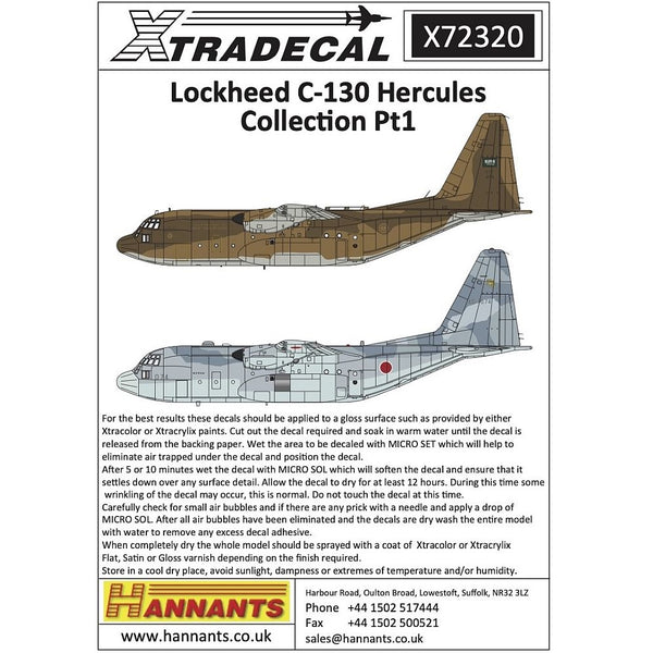 Xtradecal X72320 1/72 Lockheed C-130H Hercules Collection Part 1