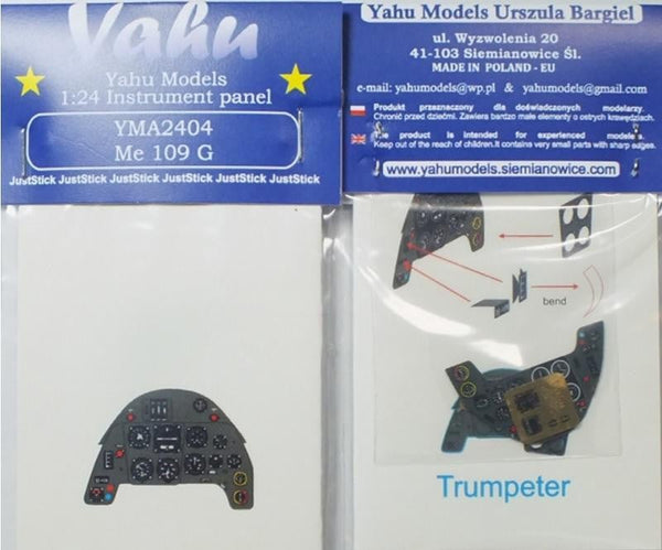 Yahu Models YMA2404 1/24 Messerschmitt Bf 109G Instrument Panel for Trumpeter - SGS Model Store
