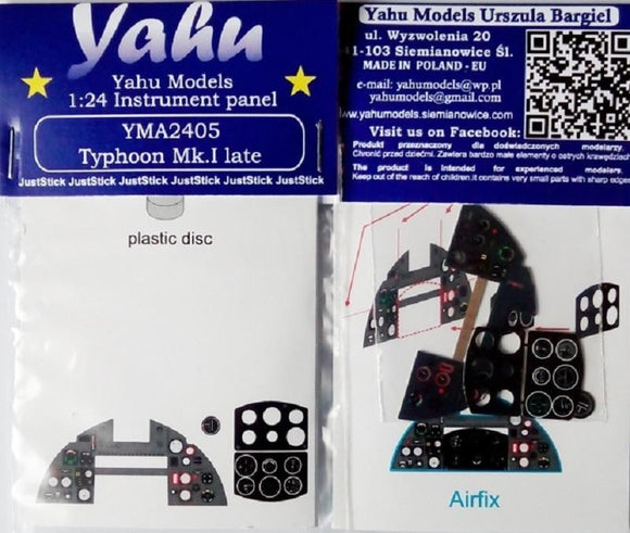 Yahu Models YMA2405 1/24 Hawker Typhoon Mk.Ib late Instrument Panel