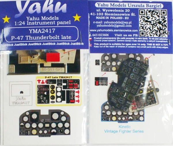 Yahu Models YMA2417 1/24 Republic P-47D Thunderbolt Late Instrument Panel - SGS Model Store