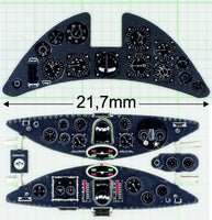 Yahu Models YMA3204 1/32 Fiat G.50 Instrument Panel for Special Hobby