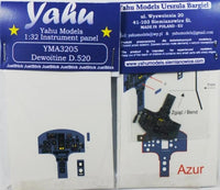 Yahu Models YMA3205 1/32 Dewoitine D.520 Instrument Panel for Azur