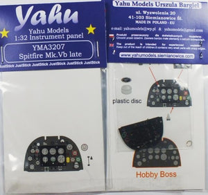 Yahu Models YMA3207 1/32 Spitfire Mk.Vb late Instrument Panel for Hobby Boss - SGS Model Store