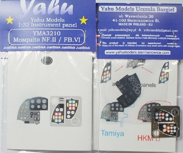 Yahu Models YMA3210 1/32 Mosquito Mk.VI Instrument Panel for Tamiya - SGS Model Store