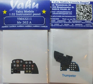 Yahu Models YMA3211 1/32 Messerschmitt Me 262A Instrument Panel for Trumpeter - SGS Model Store