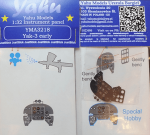 Yahu Models YMA3218 1/32 Yakovlev Yak-3 Instrument Panel for Special Hobby