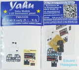 Yahu Models YMA3226 1/32 Curtiss P-40N early Instrument Panel Eduard & Hasegawa - SGS Model Store