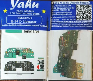 Yahu Models YMA3253 1/32 Consolidated B-24D Liberator Instrument Panel