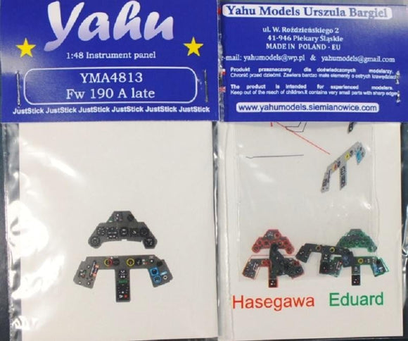 Yahu Models YMA4813 1/48 Focke-Wulf Fw 190A Late Instrument Panels for Hasegawa - SGS Model Store