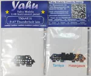 Yahu Models YMA4816 1/48 P-47D late Thunderbolt Instrument Panel for Tamiya