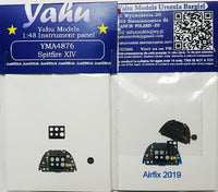 Yahu Models YMA4876 1/48 Supermarine Spitfire FR Mk.XIV Instrument Panel for Airfix - SGS Model Store