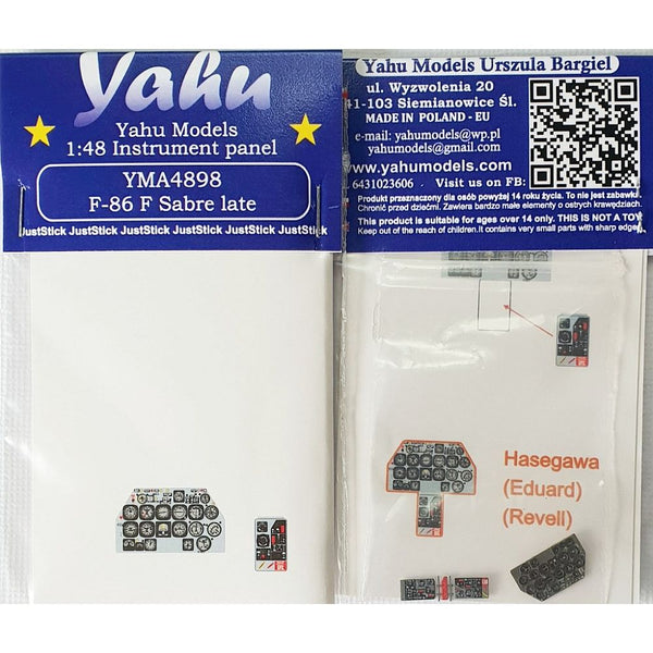 Yahu Models YMA4898 1/48 F-86 F Sabre Late Instrument Panel