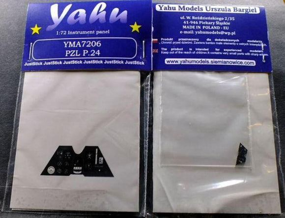 Yahu Models YMA7206 1/72 PZL P.24 Instrument Panel