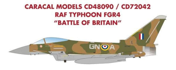 "Caracal Models CD48090 1/48 RAF Typhoon FGR4 ""Battle of Britain"" Model Decals - SGS Model Store"