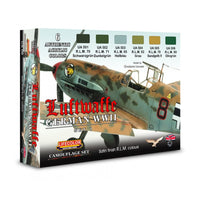LifeColor CS06 German WWII Luftwaffe Set 1 6x 22ml Acrylic Colours