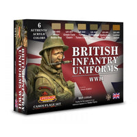 Lifecolor CS41 British Infantry Uniforms WWII acrylic colours - SGS Model Store