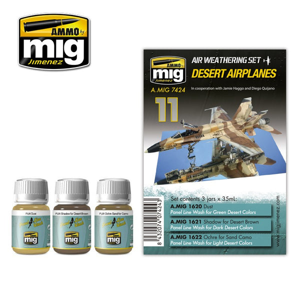 AMMO by Mig AMIG7424 Desert Airplanes Paint Set