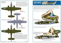 Kits-World KW132012 1/32 North-American B-25J Mitchell Model Decals - SGS Model Store