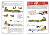 Kits-World KW148002 1/48 B-17F/G Flying Fortress My Devotion Model Decals - SGS Model Store