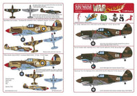 Kits-World KW148058 1/48 P-40Bs of the RAF & the American Vol Group Model Decals - SGS Model Store