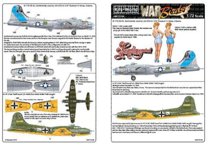 Kits-World KW172130 1/72 Boeing B-17G Sentimental Journey Model Decals - SGS Model Store