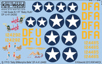 Kits-World KW144019 1/144 B-17F/G Flying Fortress Decals
