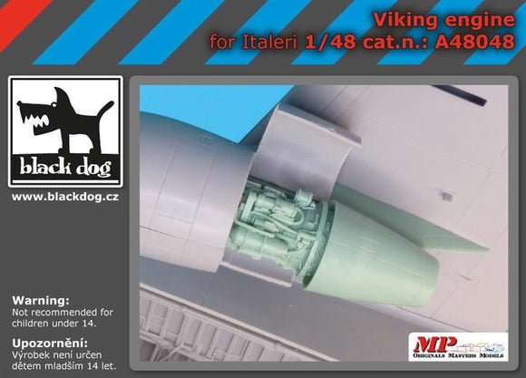 Black Dog A48048 1/48 Lockheed S-3A/B Viking engine for Italeri - SGS Model Store