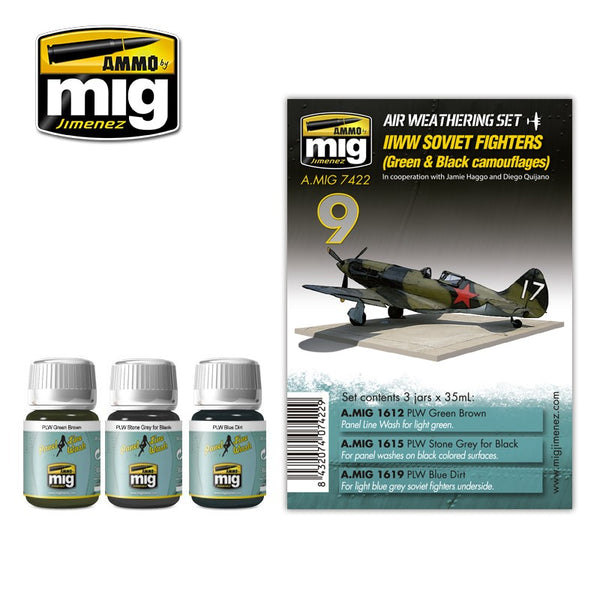 AMMO by Mig AMIG7422 WWII Soviet Airplanes Paint Set
