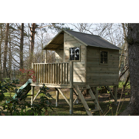 A wooden garden house Jan for children - With a slide - Blu Retail Group