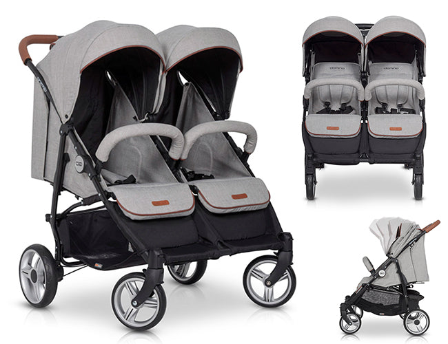 domino-modern-foldable-twin-stroller-Blu Retail Group