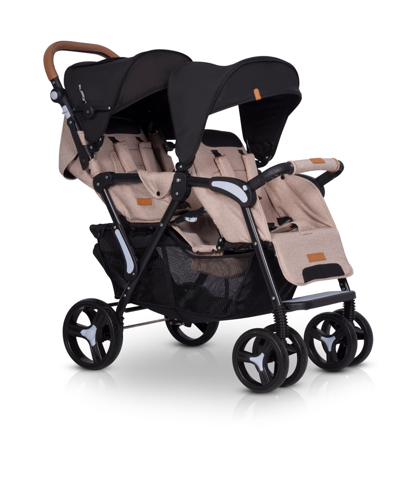 Modern Twin Baby Stroller With Soft Carrycot - Blu Retail Group