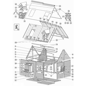 A Two-Story Wooden Garden House Mary For Children - Blu Retail Group