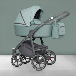 Multiposition Baby Pram, 3 In 1 with Infant Car Seat, Carrycot and Pushchair - Blu Retail Group