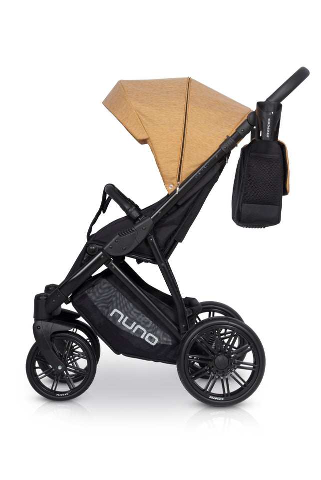 Riko Nuno Baby Pram, 3 In 1 with Infant Car Seat, Carrycot and Pushchair - Blu Retail Group
