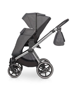Riko Qubus Baby Pram, 3 In 1 with Infant Car Seat, Carrycot and Pushchair - Blu Retail Group