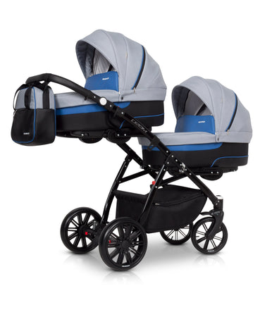Twin-Baby-Pram-with-Carrycots-and-Pushchairs