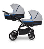 Twin-Baby-Pram-with-Carrycots-and-Pushchairs-Blu Retail Group