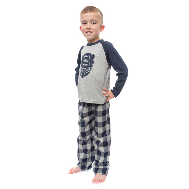 NAVY/GREY CHECK PYJAMAS
