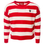 LION COLLECTION LADIES STRIPED CROP JUMPER