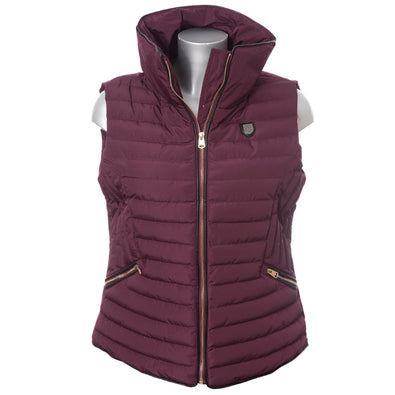 LION COLLECTION LADIES BURGUNDY GILET