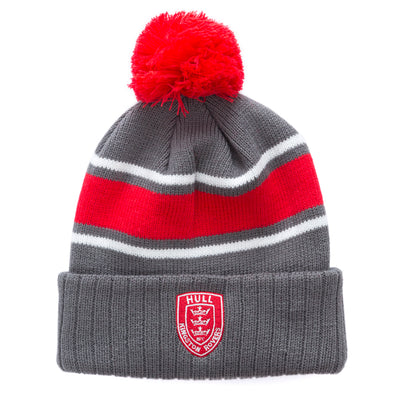 2020 GREY/RED BOBBLE HAT