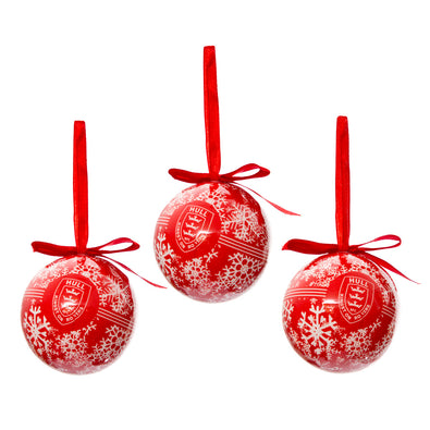 3 PACK CHRISTMAS BAUBLE