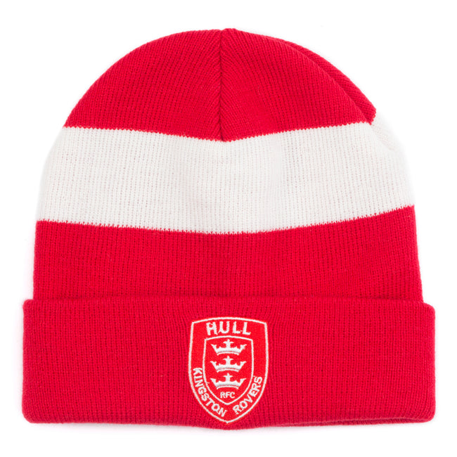 RED BEANIE WHITE BAND