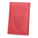 red leather card wallet