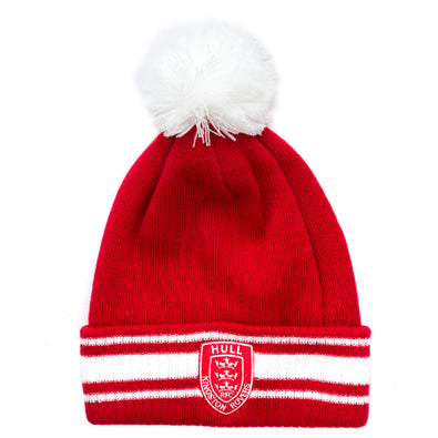 Red/white Hooped Beanie
