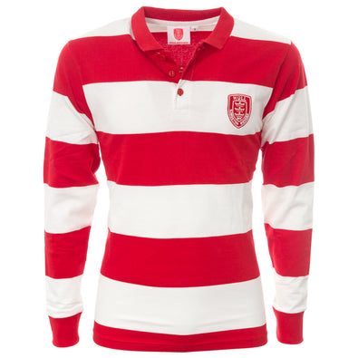 Long Sleeved Hooped Rugby Shirt