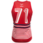 JUNIOR 71 RANGE RED/NAVY/WHITE STRIPED VEST