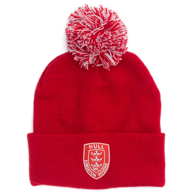 RED/WHITE POM HAT