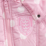 GIRLS PINK SPOTTED COAT