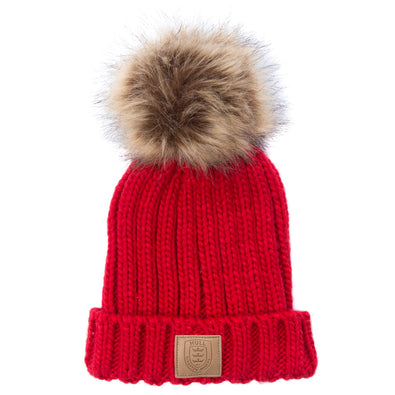 JUNIOR RED POM HAT